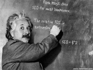 Alert Einstein endorses SEO.