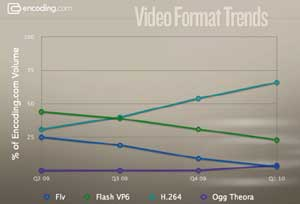 Video format popularity