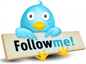 Engage your prospects; encourage them to follow you on Twitter
