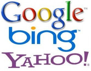 Search engine market share- Google then Bing and then Yahoo