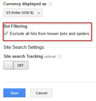 bot and spider filter