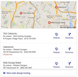 Local stack: separet local listings in Google search results