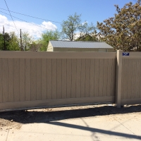 A residential sliding gate by DuraGates.