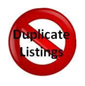 duplicate listings