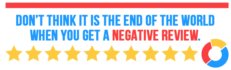 A negative online review isn't the end of the world.