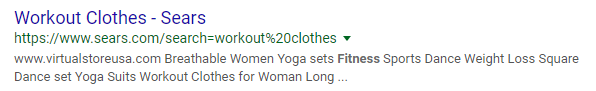 Google snippet with a meta description that's tooo long