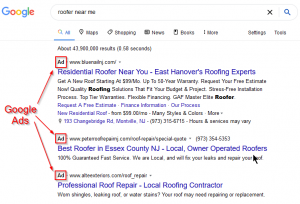 These are Google Ads, pay per click (PPC) listings.